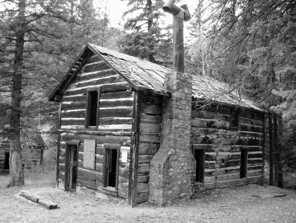 Shaft House in the Lost Creek Wilderness