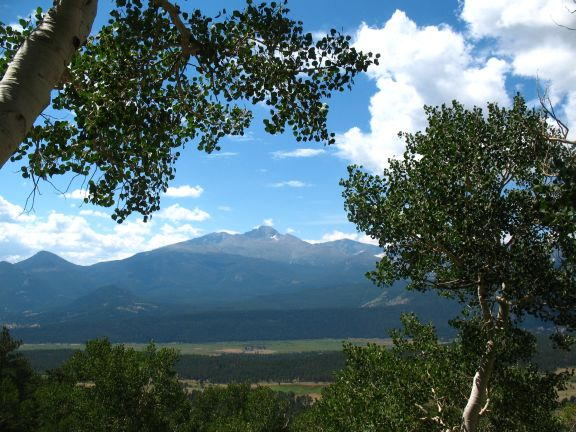 Longs Peak and Horseshow Meadows from Deer Mountain