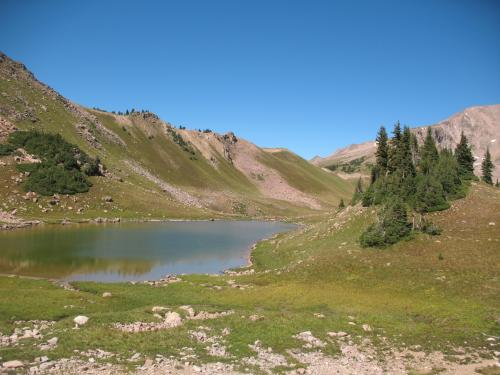 unnamed tarn near Red Buffalo Pass