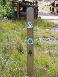 Colorado Trail and Continental Divide Trail meeting near Copper