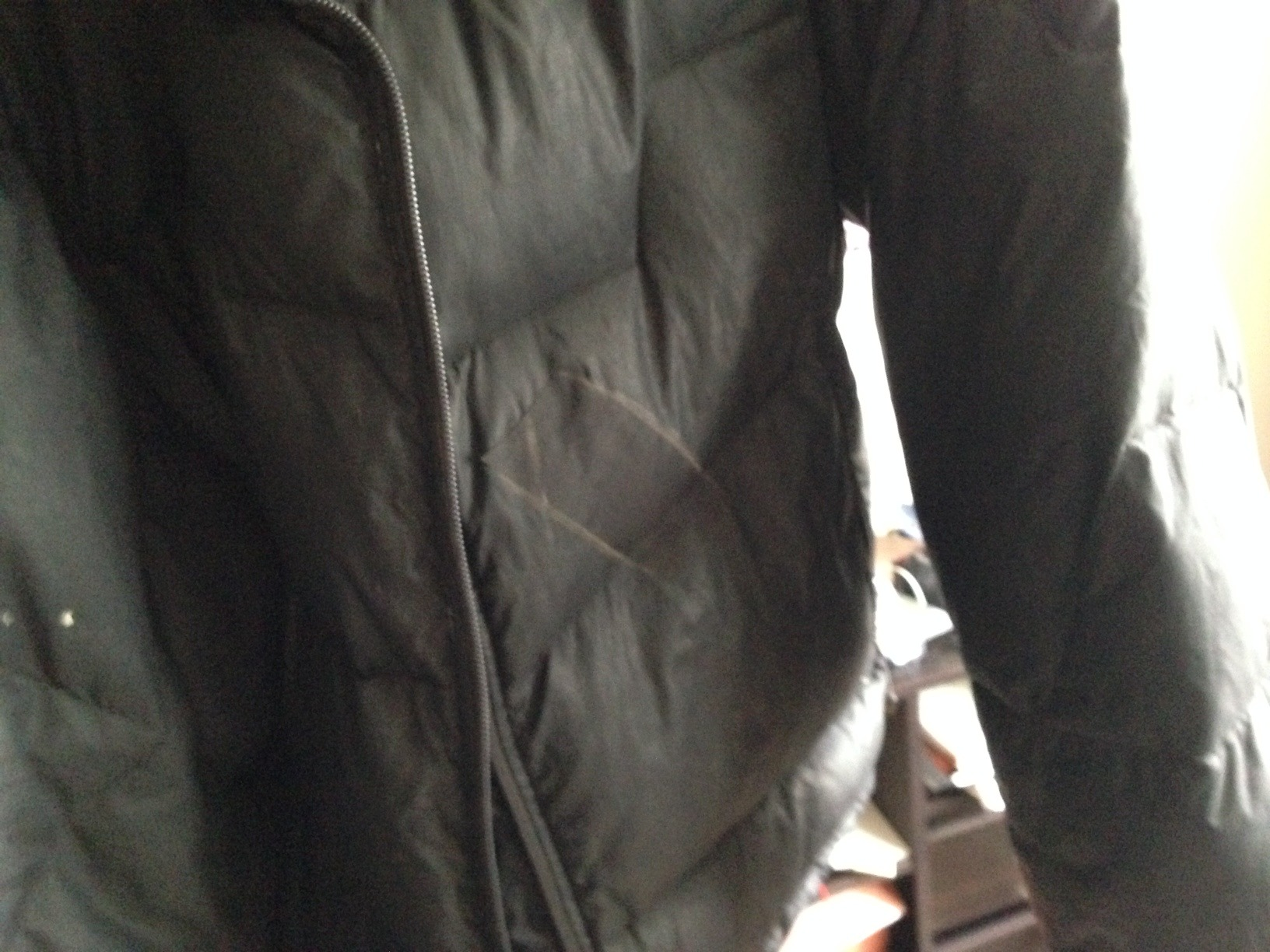 Beater down jacket